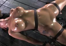 A True MILF Oiled Up And Quivering From Being Facefucked