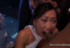 Asian Is Forced To Deepthroat Cock