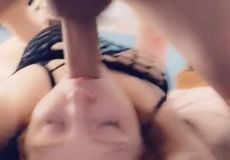 Ginger Loves To Lay Back And Have Her Face Fucked Until She Gasps