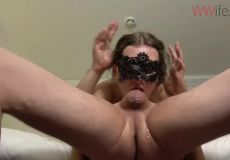 Jerking Off With Her Head
