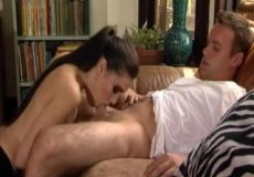 Sasha Grey Gags Her Way To Cum Down Her Throat