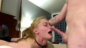 Tied Up Extreme Throat Fuck, No Mercy For Her Throat